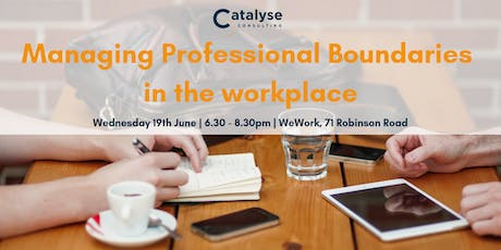 Managing Professional Boundaries in the Workplace tickets