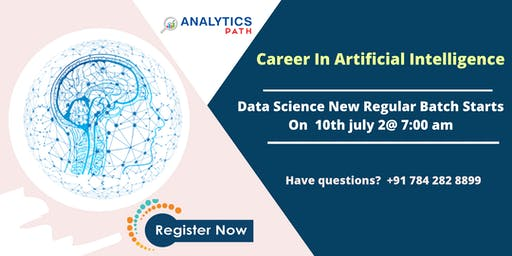 Enroll For Artificial intelligence New Regular Batch From 10th July @7 AM