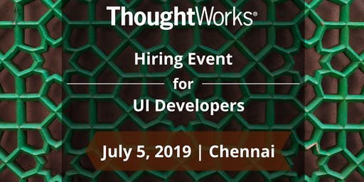 Hiring Event for UI Developers