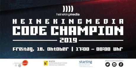 "Hackathon ""heinekingmedia Code Champion 2019"" in Hannover Tickets"