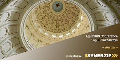 Agile2019 Conference Top 10 Takeaways - Austin
