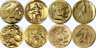Alexander the Great coinage.A bridge between different cultures and periods