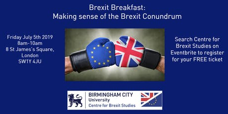 Brexit Breakfast: Making Sense of the Brexit Conundrum  tickets