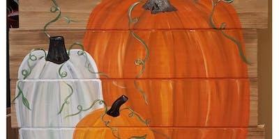 M&M Vineyards Pumpkin Pallet Paint & Sip
