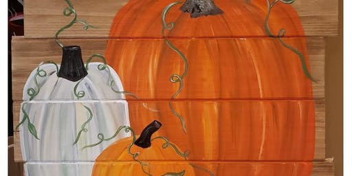 M&M Vineyards Pumpkin Pallet Paint & Sip