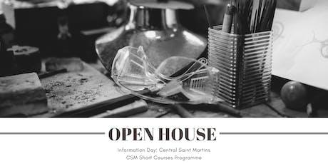 Open House: Central Saint Martins (CSM) Short Courses Programme tickets