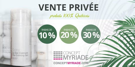 """Concept Myriade vous invite à sa première """" VENTE PRIVÉE """" parents & amis ! tickets"""