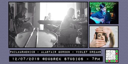 Philharmonics, Alastair Gordon, Violet Dreams at Dubrek Studios