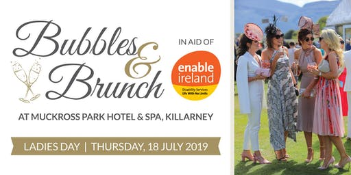 Bubbles and Brunch supporting Enable Ireland Kerry Services