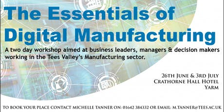 The Essentials of Digital Manufacturing tickets