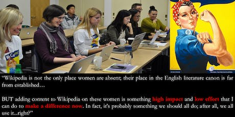Feminist Writers - a Wikipedia Diversithon to add bios of feminist writers. tickets