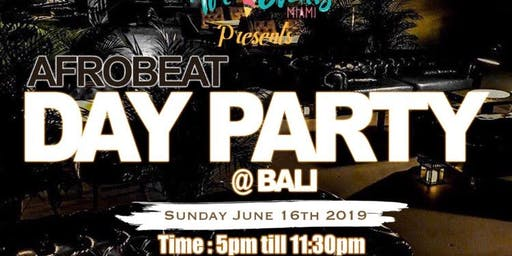AFROBEATS DAY PARTY @ BALI