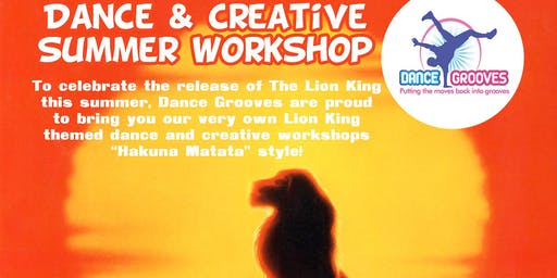 The Lion King themed Dance & Creative Summer Holiday Workshop at The Half Moon Putney