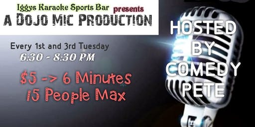 OPEN MIC @  IGGYS KARAOKE SPORTS PUB