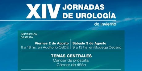 XIV Jornadas de Urología de Invierno entradas