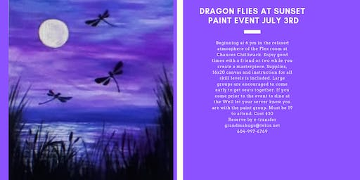 Dragonflies at Sunset Paint Event