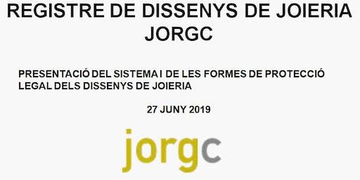 """SEMINARI """"REGISTRE DE DISSENYS DE JOIERIA JORGC"""". LA PROTECCIÓ DE DISSENYS"""