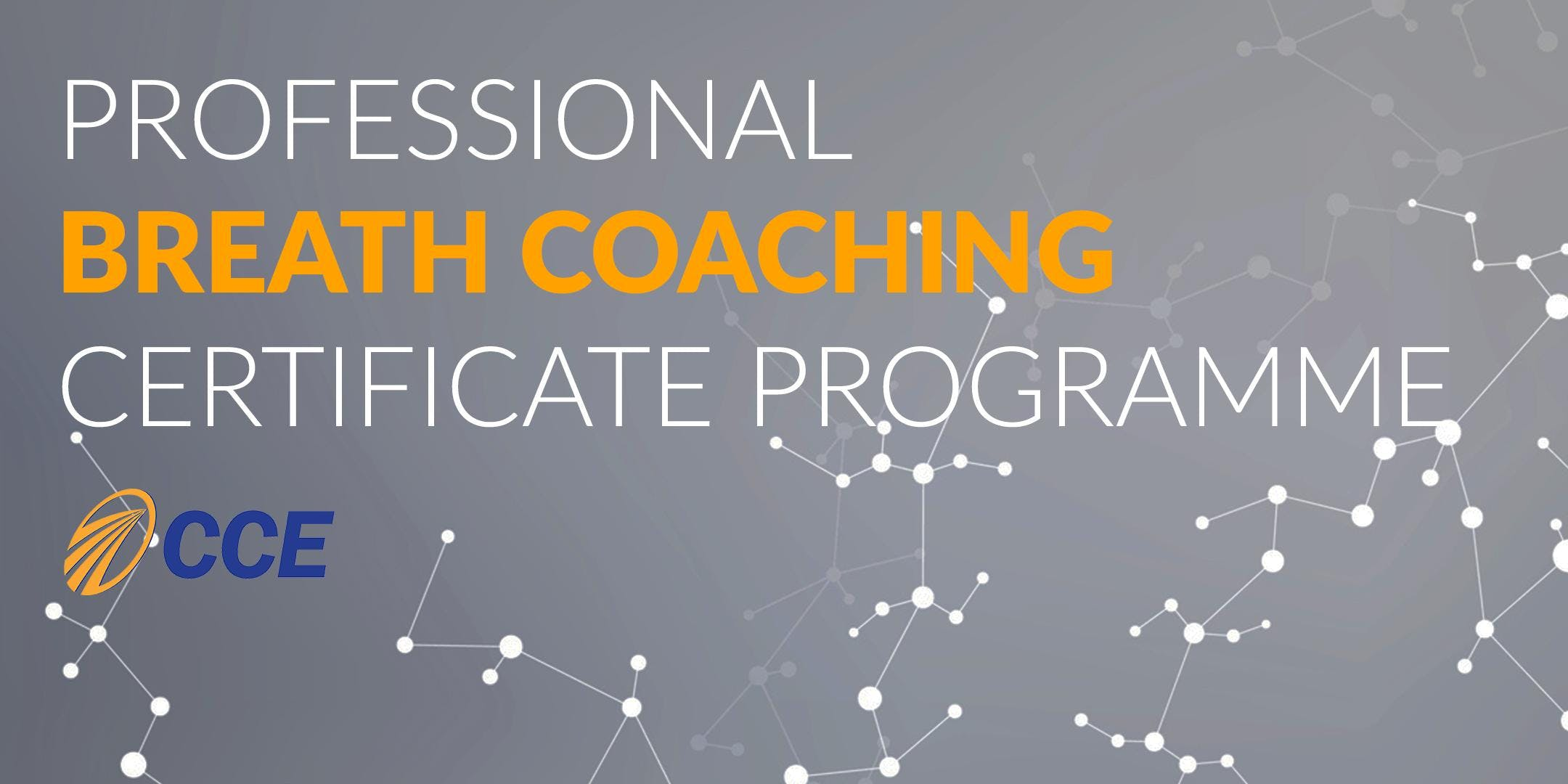 Professional Breath Coaching Certificate Programme Part 1-2-3 in London