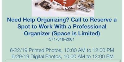 Print Photo Organizing Workshop