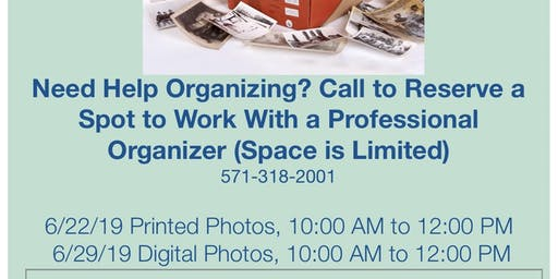 Print Photo Organizing Workshop