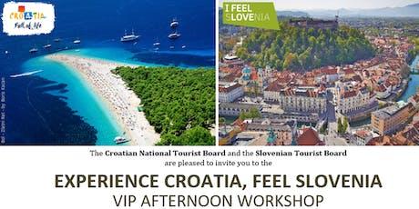 Experience Croatia, Feel Slovenia Roadshow 2019 - Sydney billets