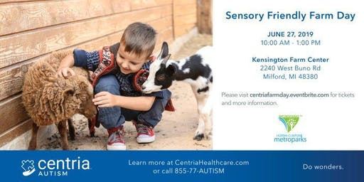 Sensory Friendly Farm Day - Presented by Centria Autism