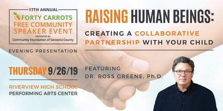 Forty Carrots Family Center Free Community Speaker Event tickets