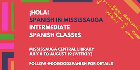 Intermediate Spanish Classes in Mississauga tickets