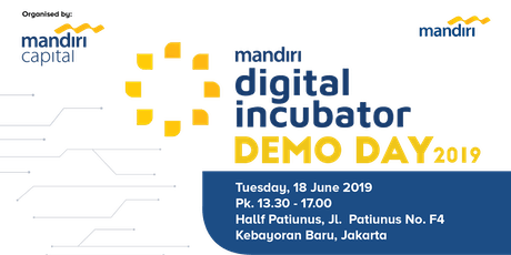 Mandiri Digital Incubator Demo Day 2019 tickets