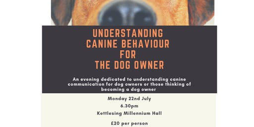 Understanding canine behaviour for the dog owner