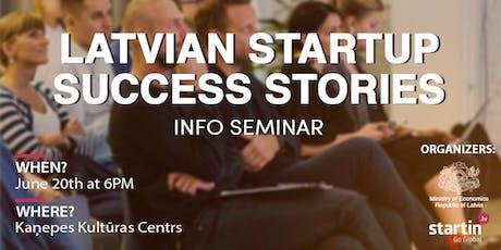 Latvian Startup Success Stories tickets