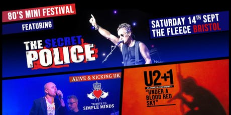 80s Mini Festival ft. tributes to The Police / Simple Minds / U2 tickets