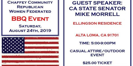 Chaffey Republican Federated Barbecue with Senator Morrell at Ellingson's tickets