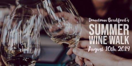 Bradford PA Summer Wine Walk tickets