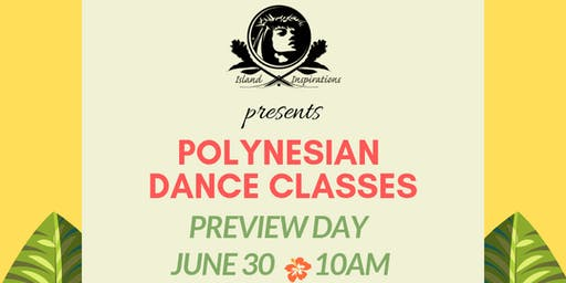Polynesian Dance Classes - FREE Preview Day with Island Inspirations