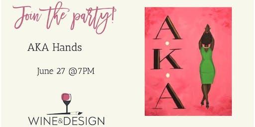 Wine & Design - Franklin Paint & Sip (AKA Hands)