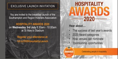 Breakfast Launch Invitation - Hospitality Awards 2020