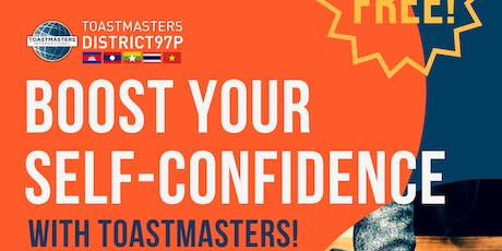 Boost your Self-Confidence with Toastmasters tickets