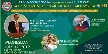 Bridging the Leadership Gaps to Tackle the Major Challenges Africa Faces tickets