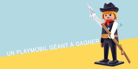 Tirage au sort Playmobil: 1 Playmobil Géant à gagner avec Collector BD billets