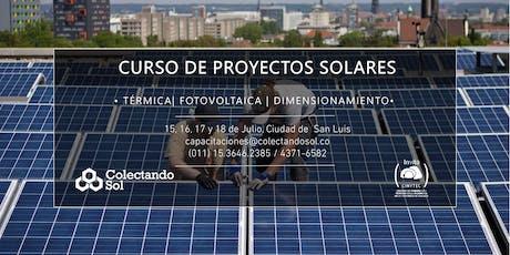 Curso de Proyectos Solares // Julio San Luis 2019 entradas