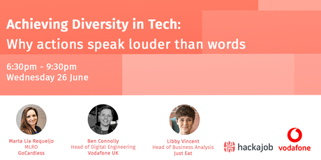 Achieving Diversity in Tech: why actions speak louder than words tickets
