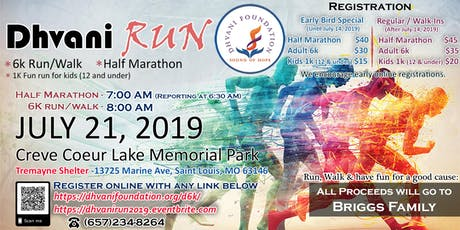 Dhvani Run 2019 - Half Marathon, 6K Walk/Run & 1K Kids Fun Run tickets