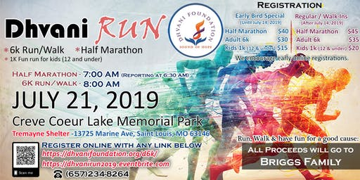 Dhvani Run 2019 - Half Marathon, 6K Walk/Run & 1K Kids Fun Run