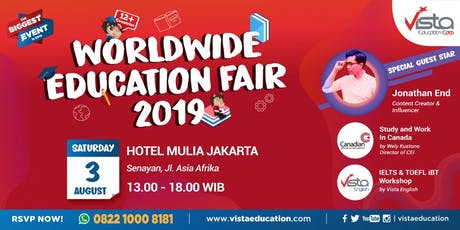 Worldwide Education Fair 2019 Jakarta - Mulia Hotel tickets