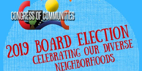 2019 Board Election: Celebrating Our Diverse Neighborhoods tickets