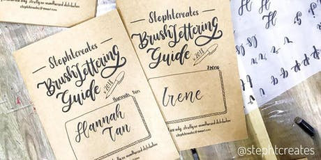 Journaling Festival 2019: Workshop - Brush Lettering Basics Workshop by Stephanie Tan tickets