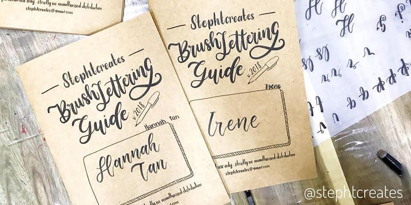 Workshop – Brush Lettering Basic by Stephtcreates