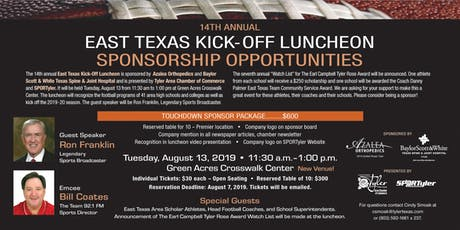 2019 14th Annual East Texas Kickoff Luncheon tickets
