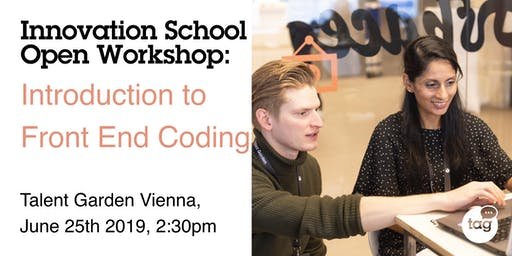 Innovation School Open Day Workshop: Introduction to Front End Coding